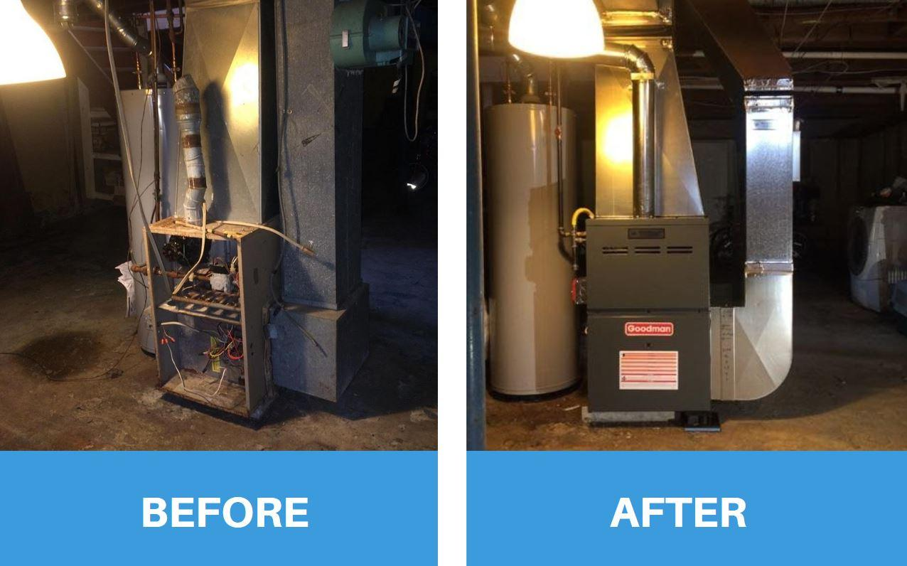 Tom Rostron installed a complete heating system in Wall Township for free