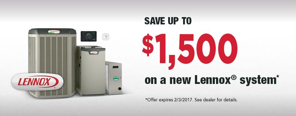 Winter rebate on a new Lennox furnace for your home provided by Tom Rostron.