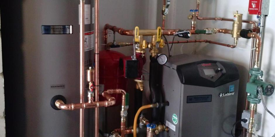 tom rostron installed hot water heater furnace